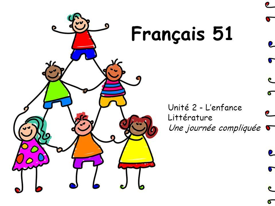 Unité 2 - L'enfance Littérature Une journée compliquée