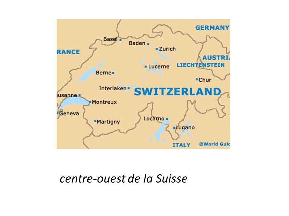 centre-ouest de la Suisse