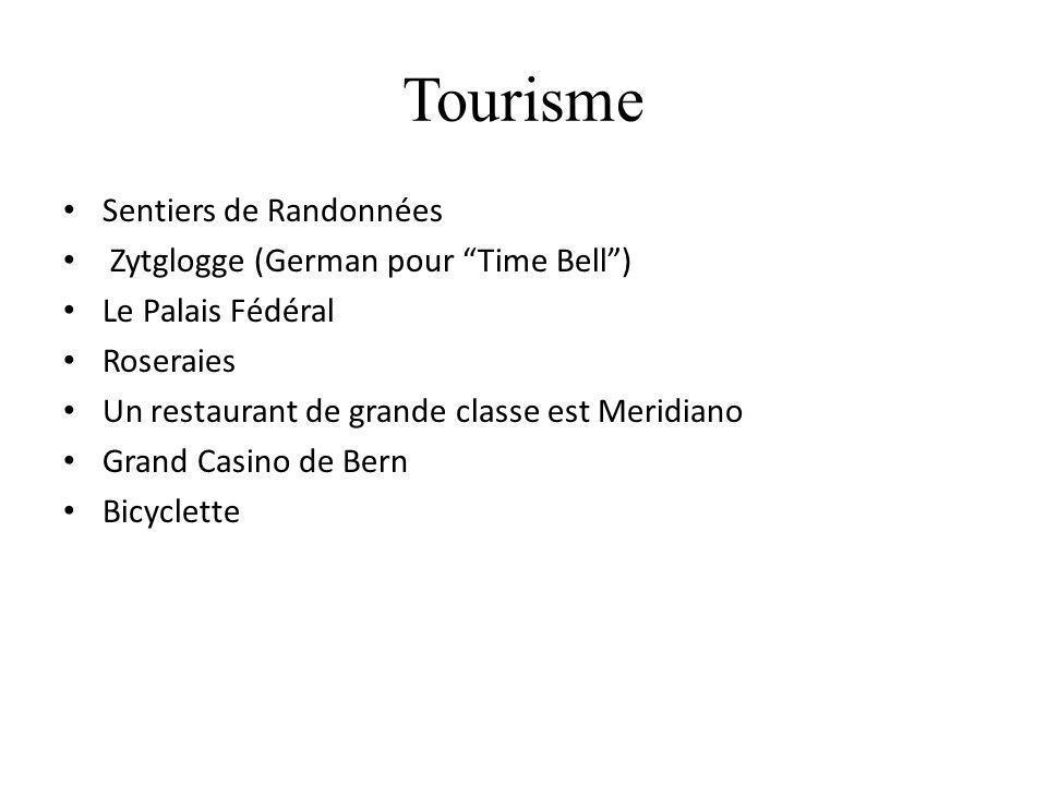 Tourisme Sentiers de Randonnées Zytglogge (German pour Time Bell )