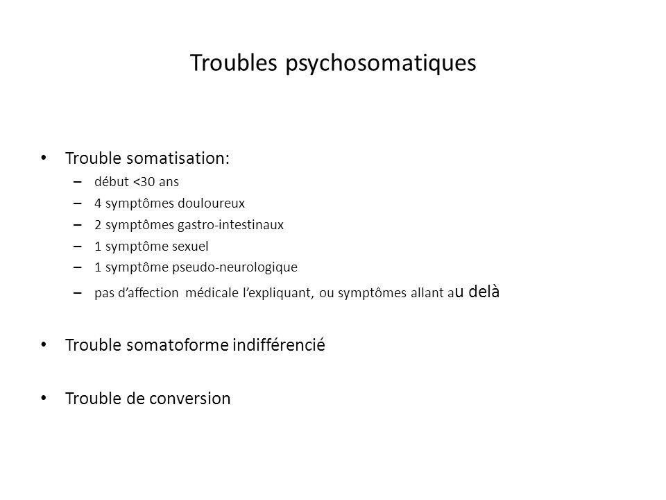 Troubles psychosomatiques