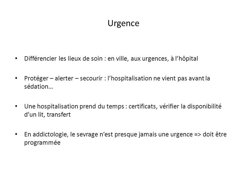 Urgence Différencier les lieux de soin : en ville, aux urgences, à l'hôpital.