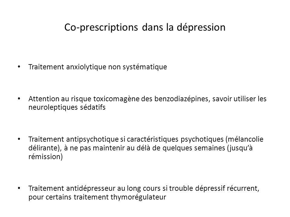 Co-prescriptions dans la dépression