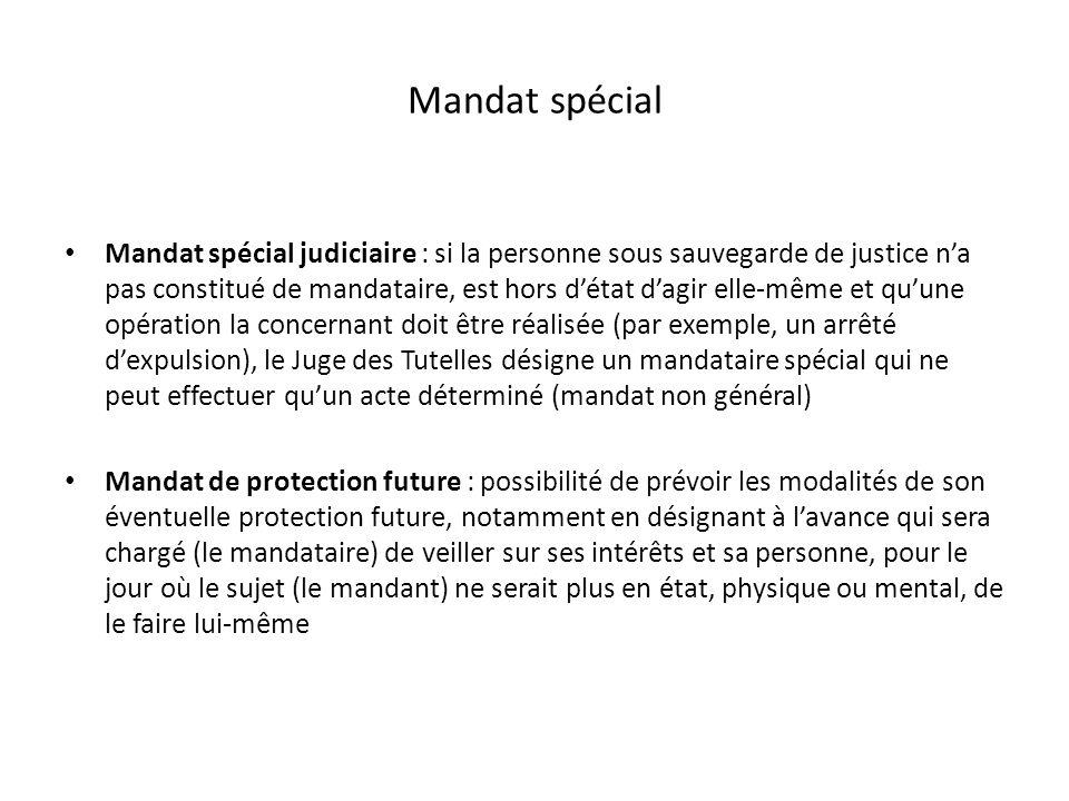 Mandat spécial
