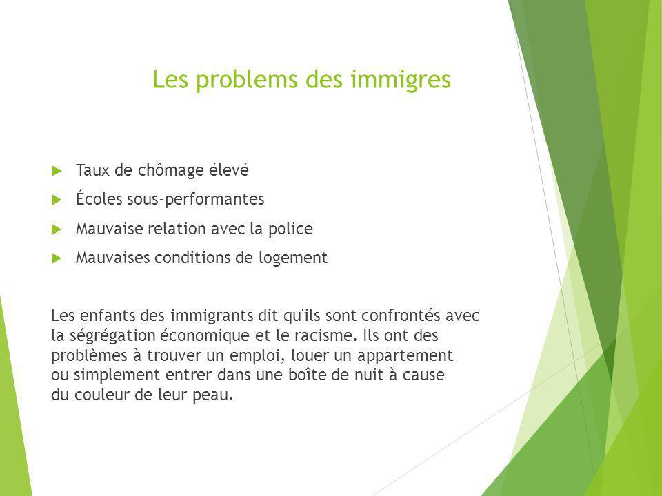 Les problems des immigres