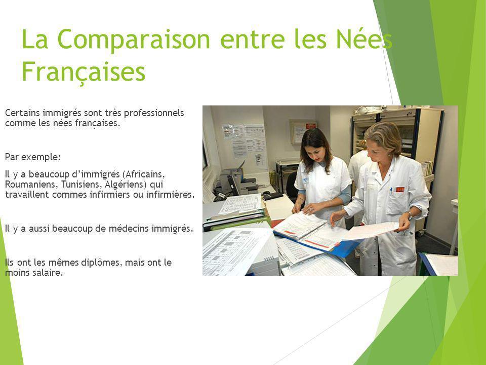 La Comparaison entre les Nées Françaises
