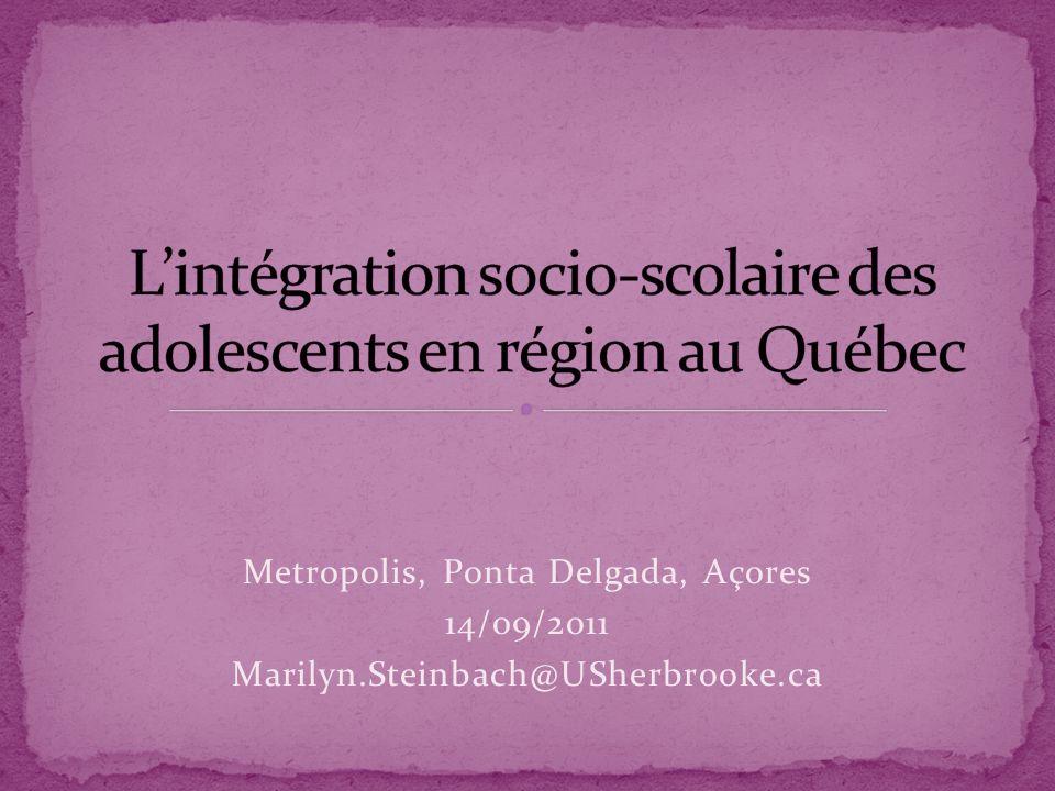 L'intégration socio-scolaire des adolescents en région au Québec