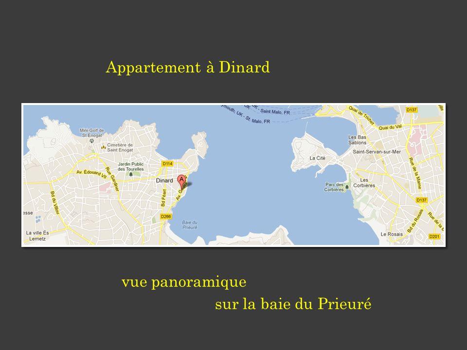 Appartement à Dinard vue panoramique sur la baie du Prieuré