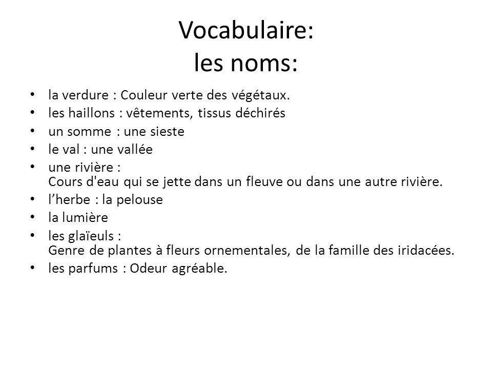 Vocabulaire: les noms: