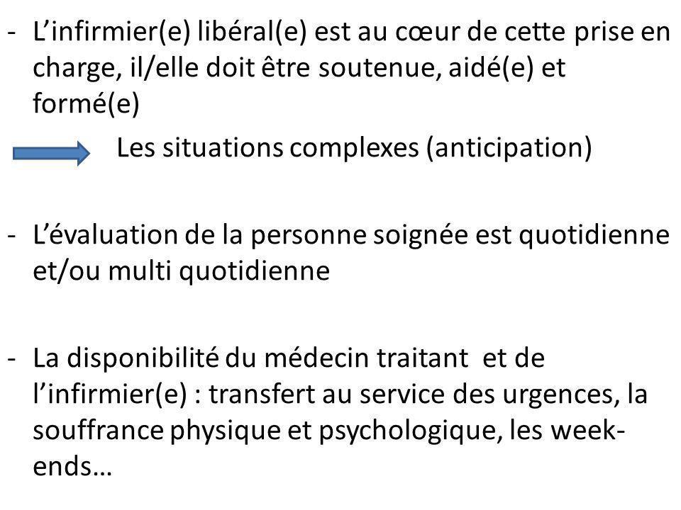 L'infirmier(e) libéral(e) est au cœur de cette prise en charge, il/elle doit être soutenue, aidé(e) et formé(e)