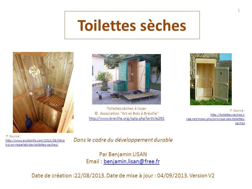 Toilettes sèches Dans le cadre du développement durable
