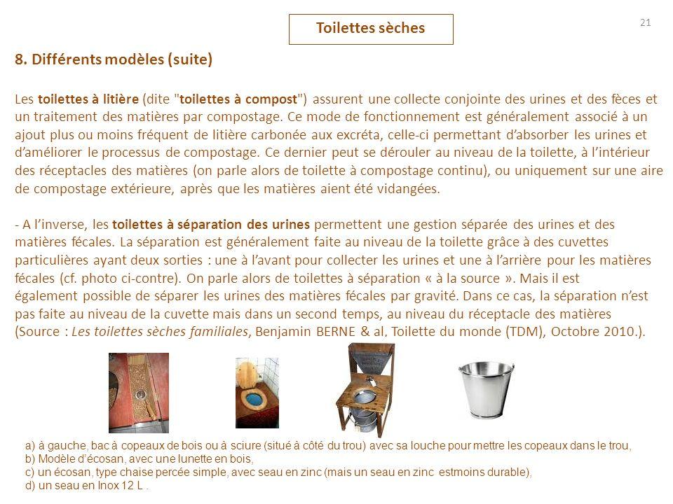 8. Différents modèles (suite)