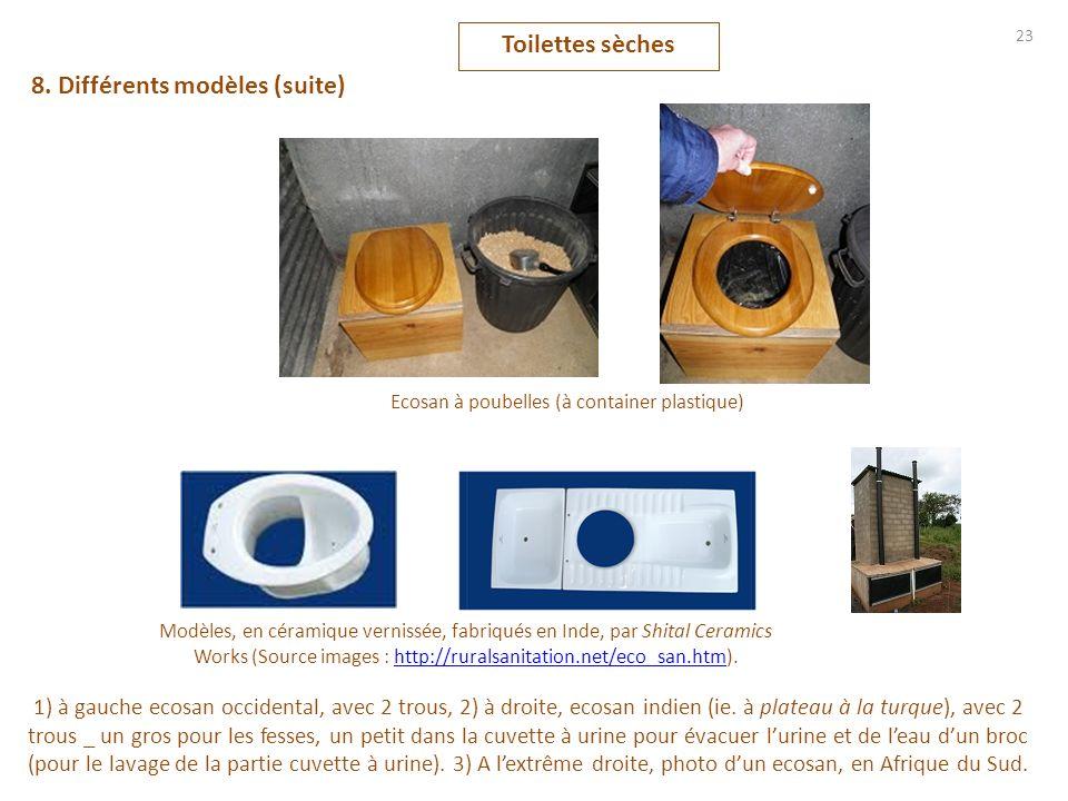Ecosan à poubelles (à container plastique)