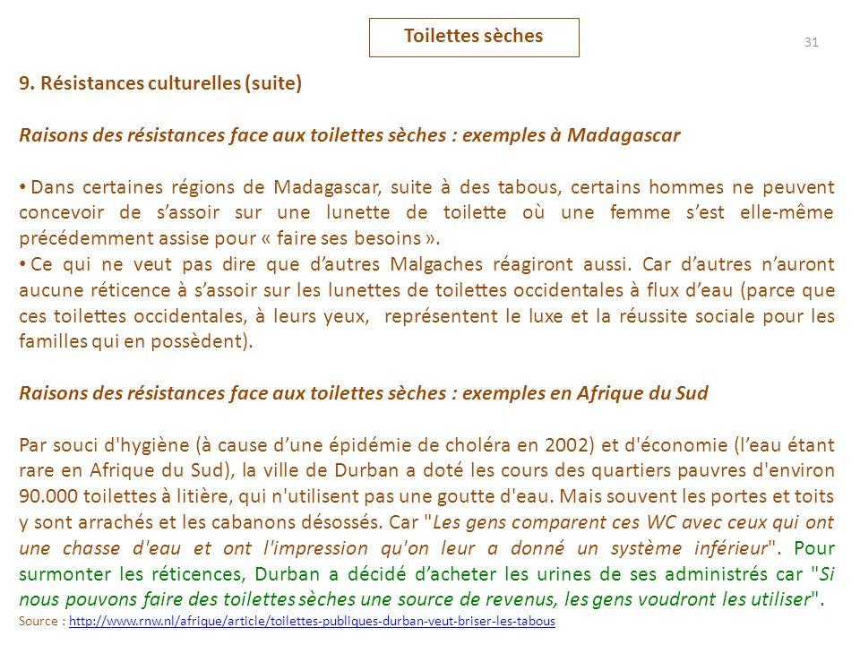 9. Résistances culturelles (suite)