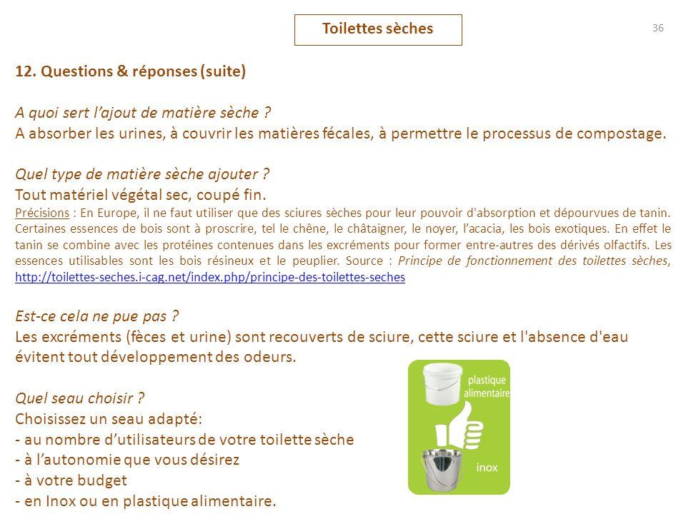 12. Questions & réponses (suite)