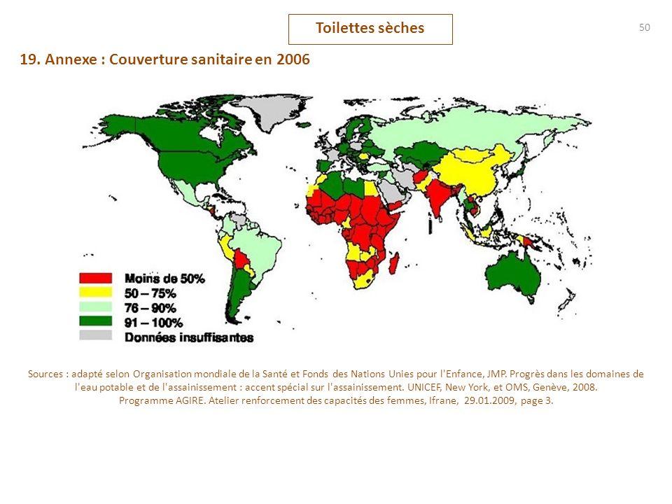 19. Annexe : Couverture sanitaire en 2006