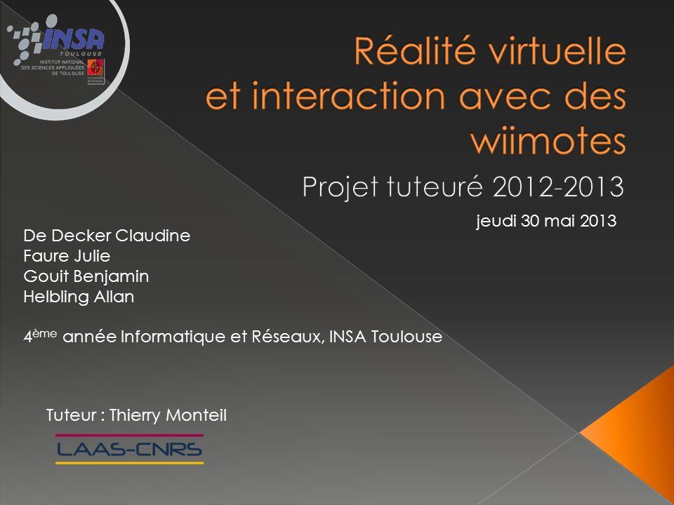 Réalité virtuelle et interaction avec des wiimotes