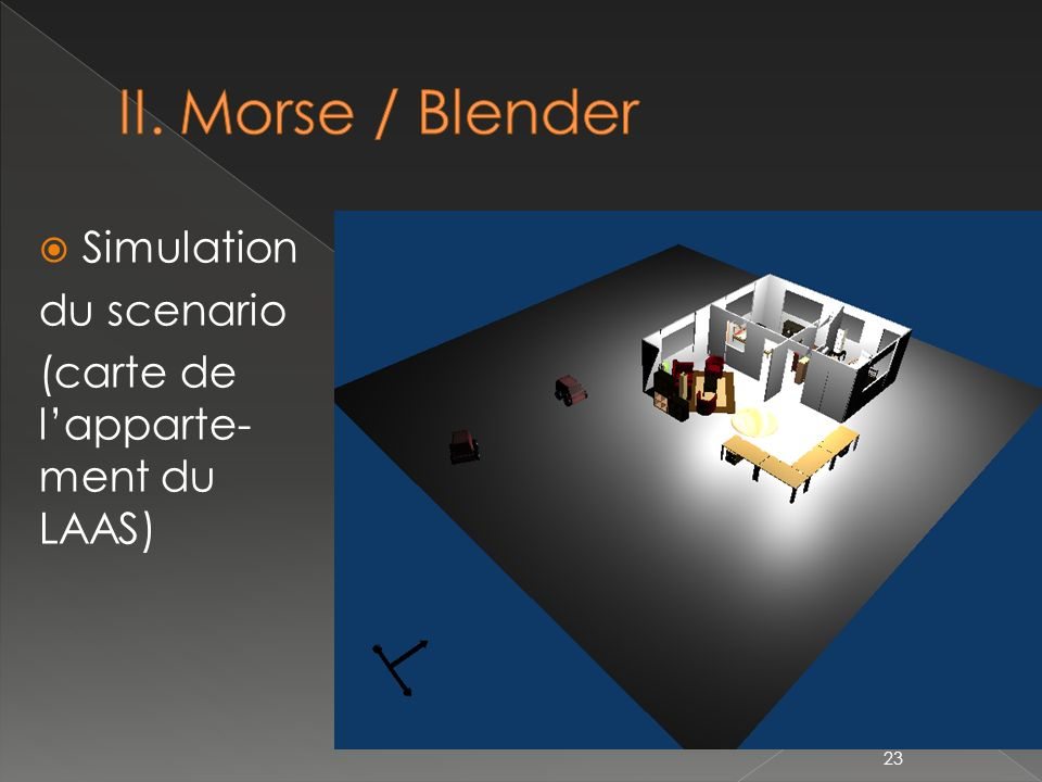 II. Morse / Blender Simulation du scenario