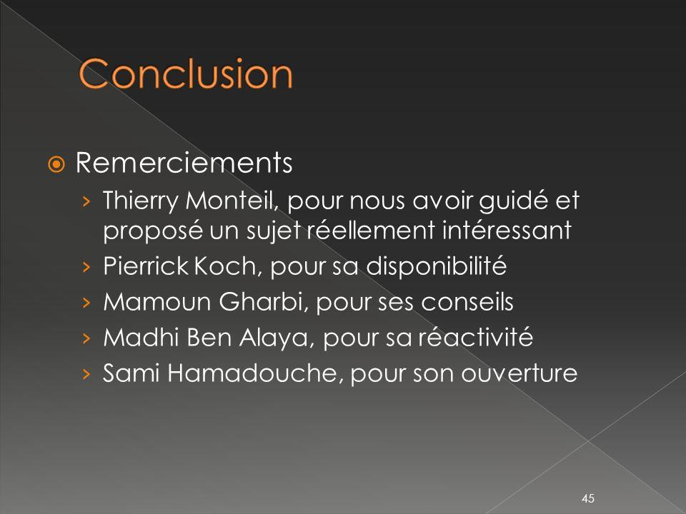 Conclusion Remerciements