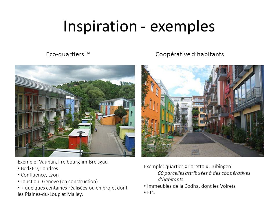 Inspiration - exemples