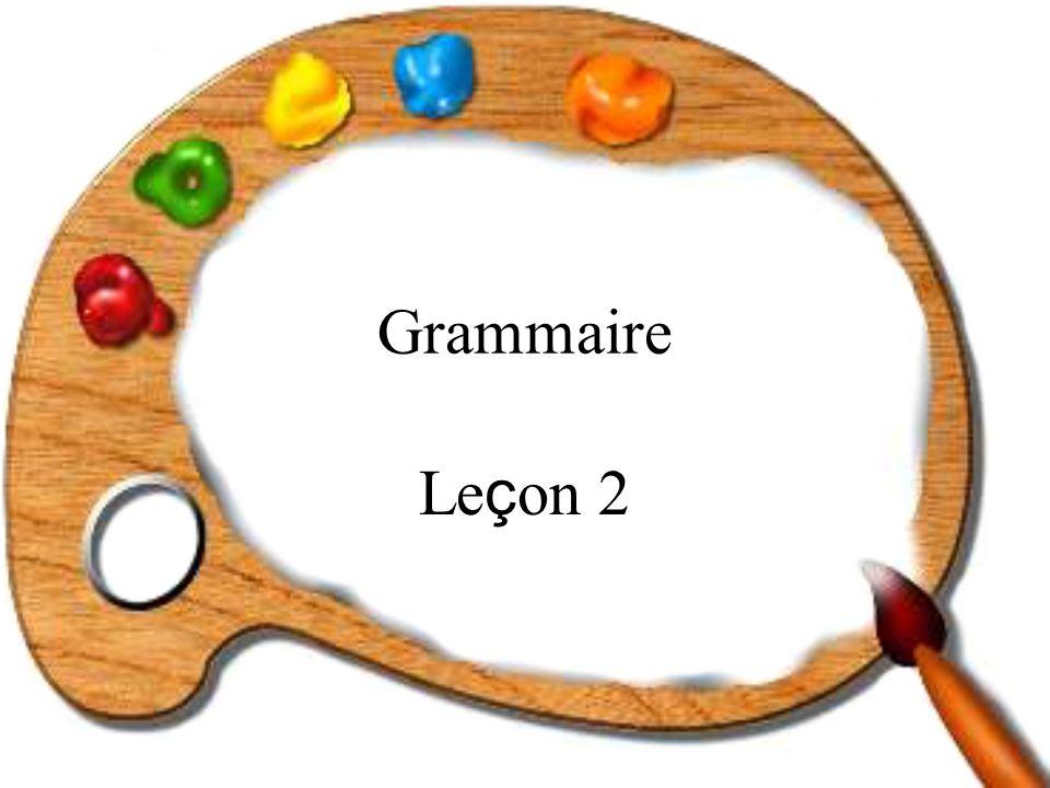 Grammaire Leçon 2