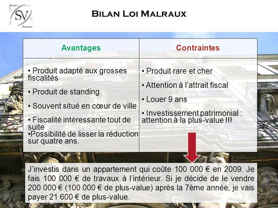 Bilan Loi Malraux Avantages Contraintes
