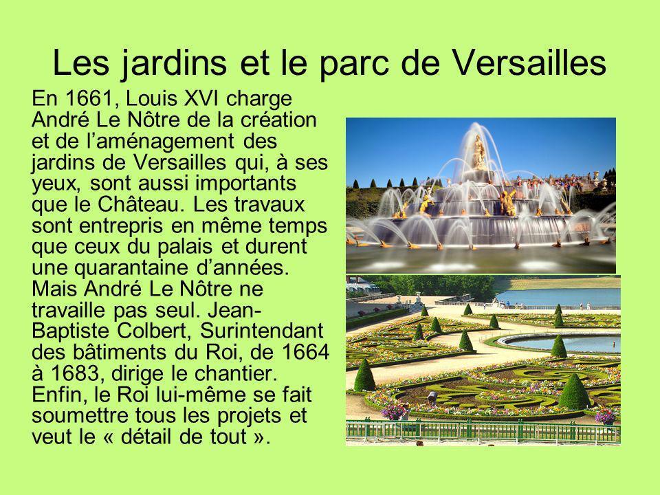 Les jardins et le parc de Versailles