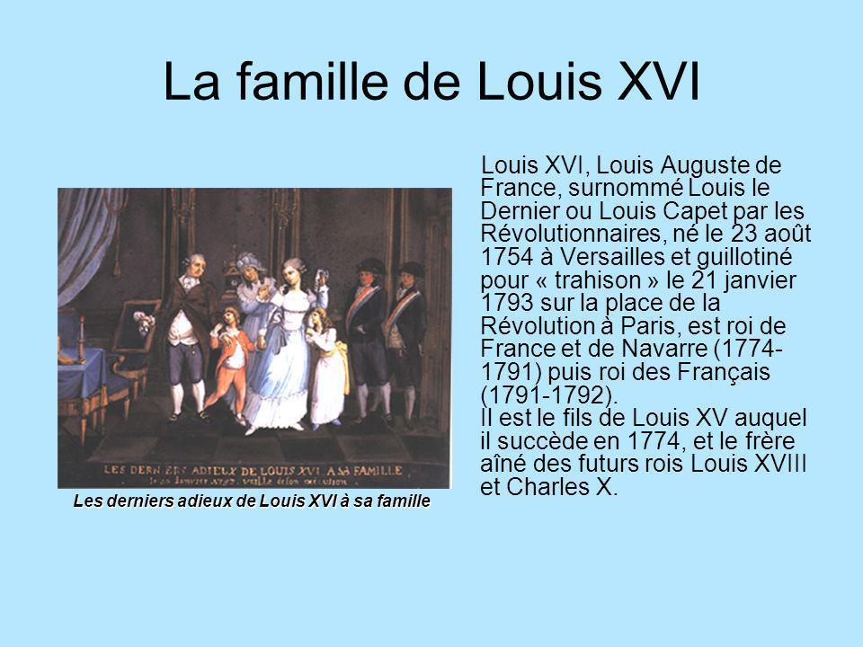 La famille de Louis XVI