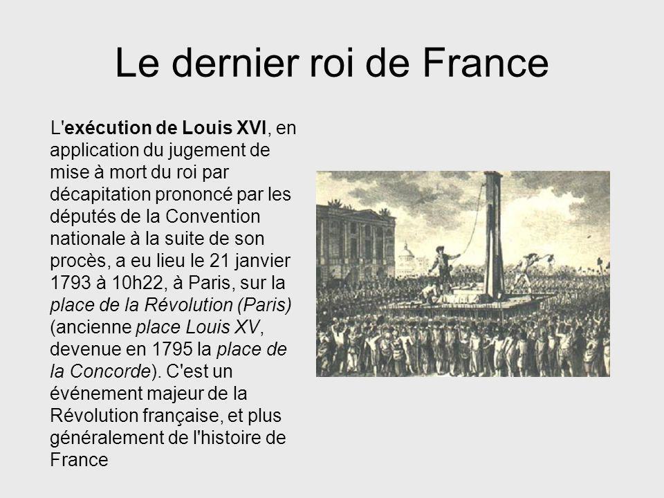 Le dernier roi de France