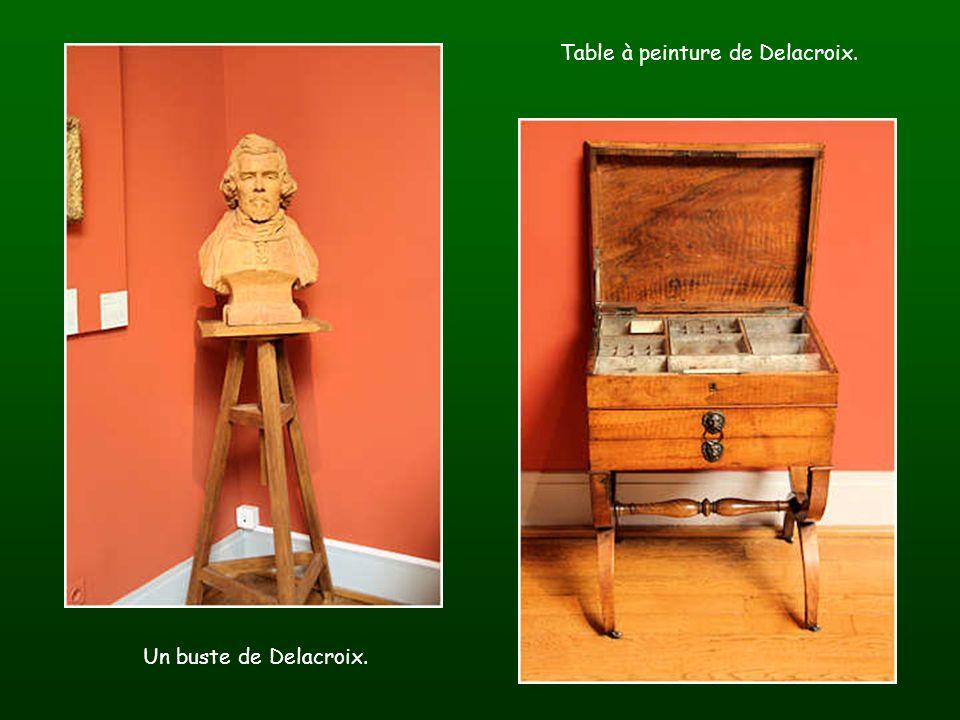 Table à peinture de Delacroix.