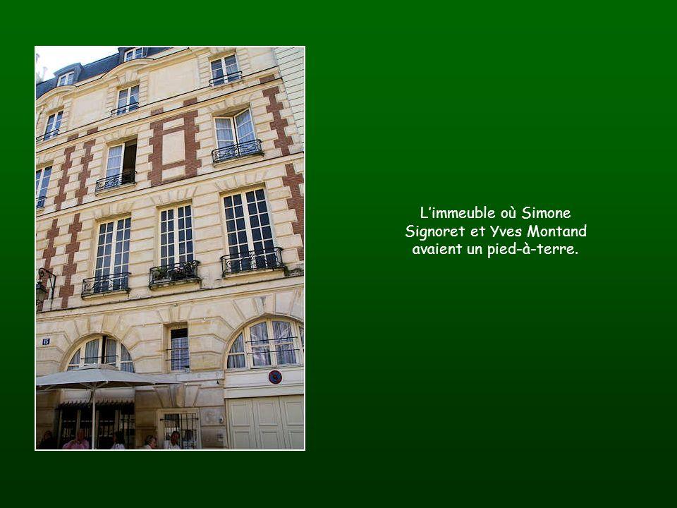 L'immeuble où Simone Signoret et Yves Montand avaient un pied-à-terre.