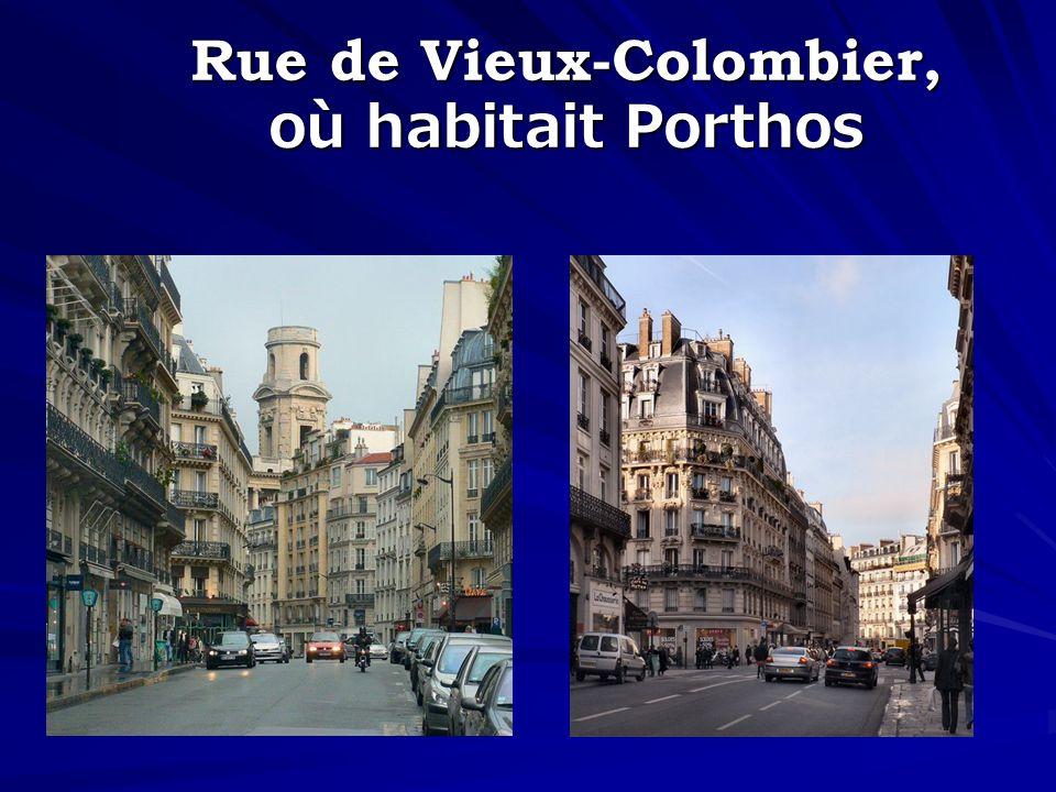 Rue de Vieux-Colombier, où habitait Porthos