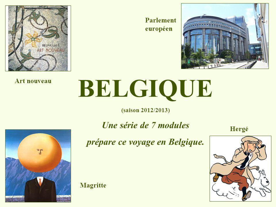 prépare ce voyage en Belgique.