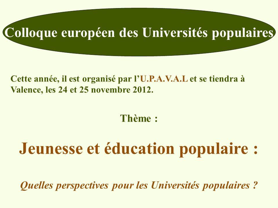 Jeunesse et éducation populaire :