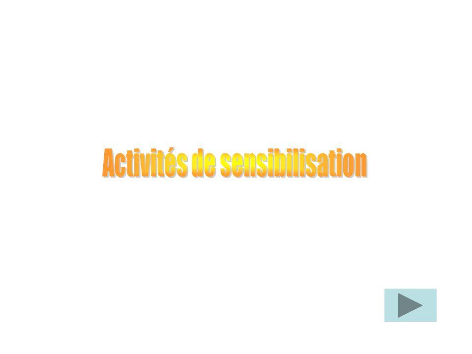 Activités de sensibilisation