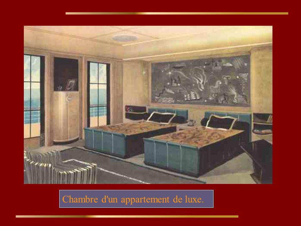 Chambre d un appartement de luxe.