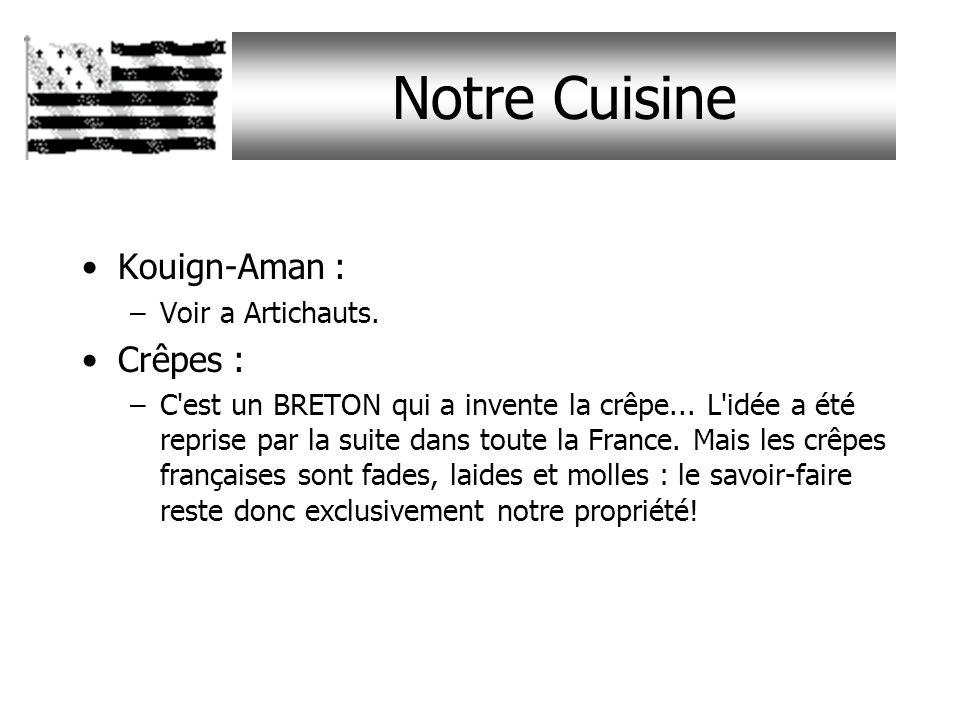 Notre Cuisine Kouign-Aman : Crêpes : Voir a Artichauts.