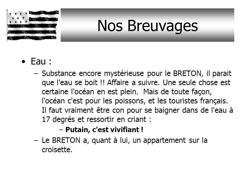 Nos Breuvages Eau :