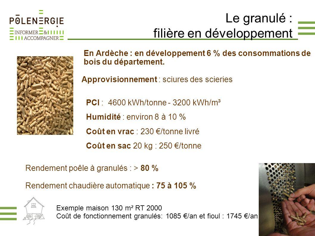 Le granulé : filière en développement