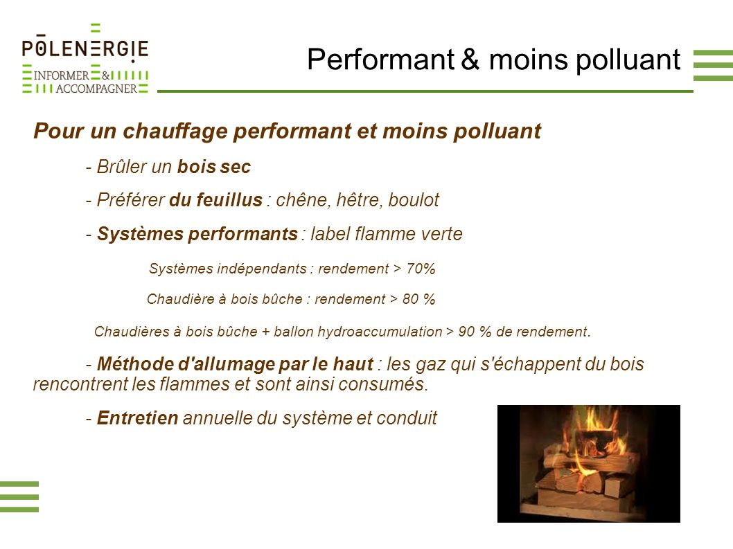 Performant & moins polluant