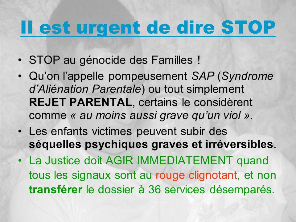 Il est urgent de dire STOP