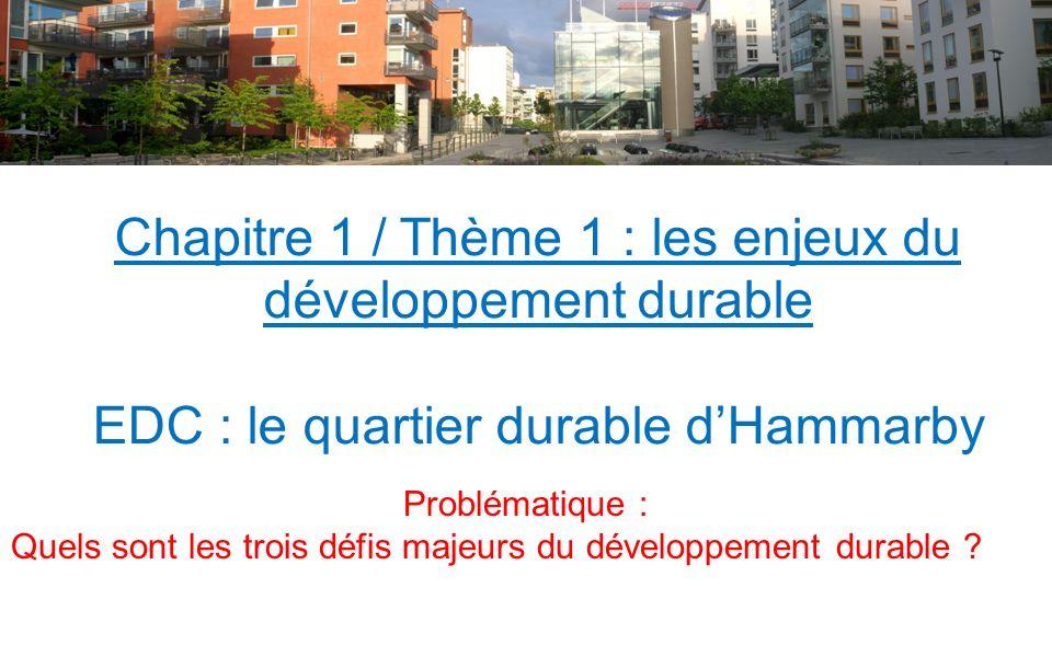 Chapitre 1 / Thème 1 : les enjeux du développement durable