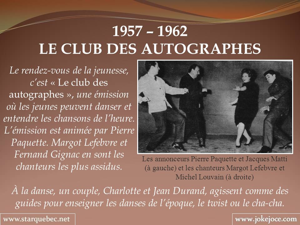 LE CLUB DES AUTOGRAPHES