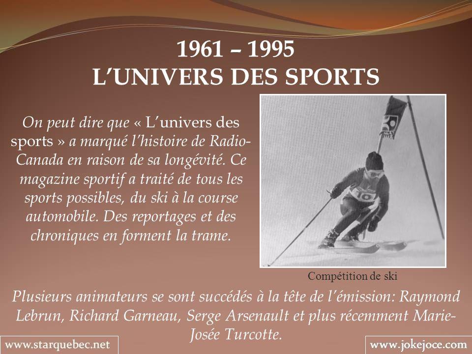 1961 – 1995 L'UNIVERS DES SPORTS.