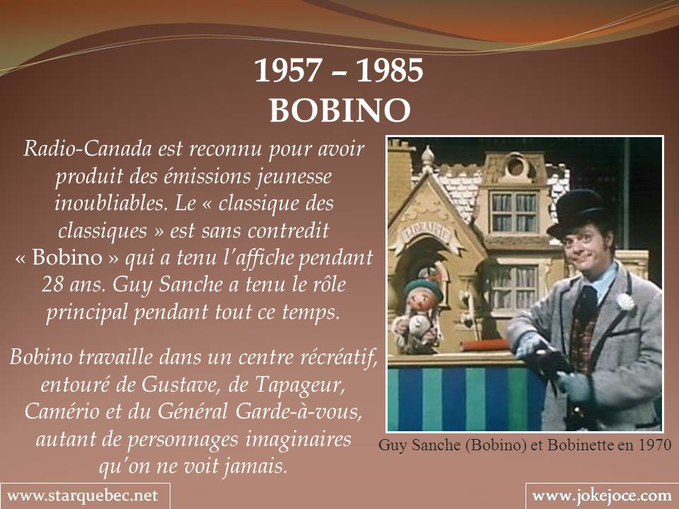 Guy Sanche (Bobino) et Bobinette en 1970