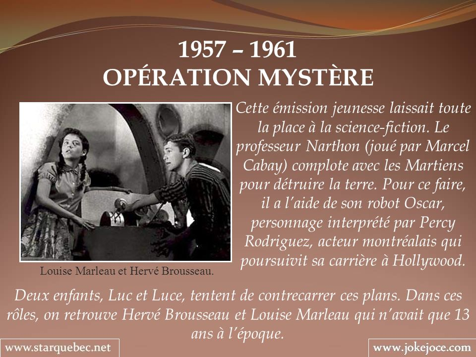 Louise Marleau et Hervé Brousseau.