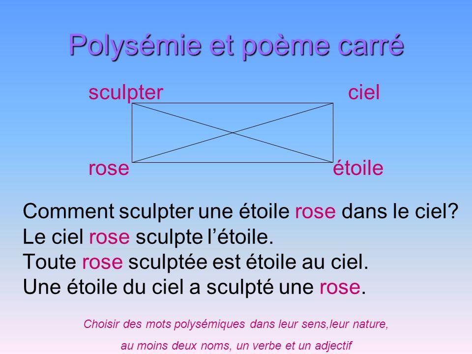 Polysémie et poème carré