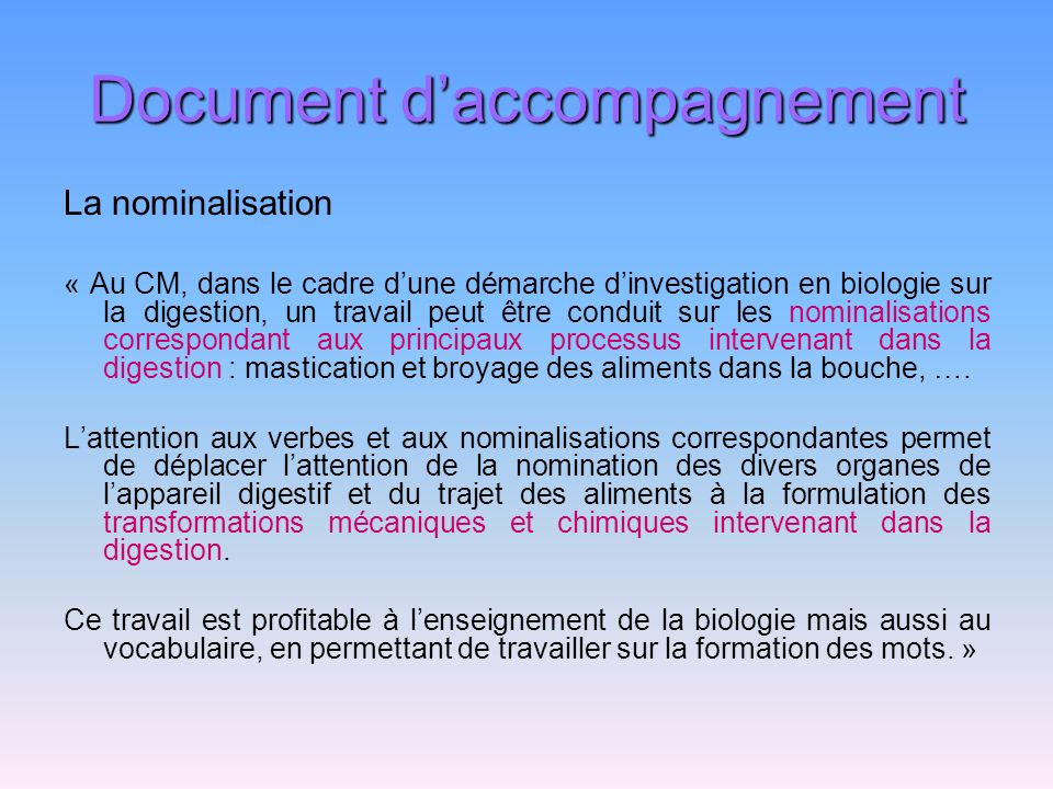 Document d'accompagnement