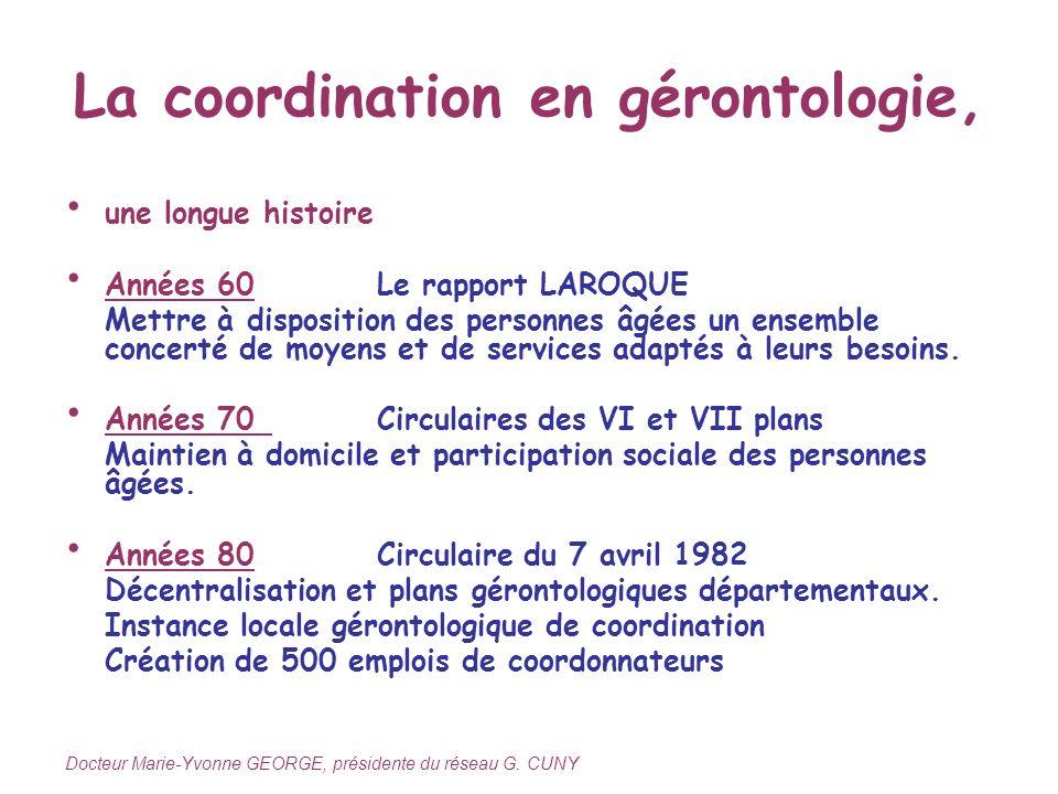 La coordination en gérontologie,