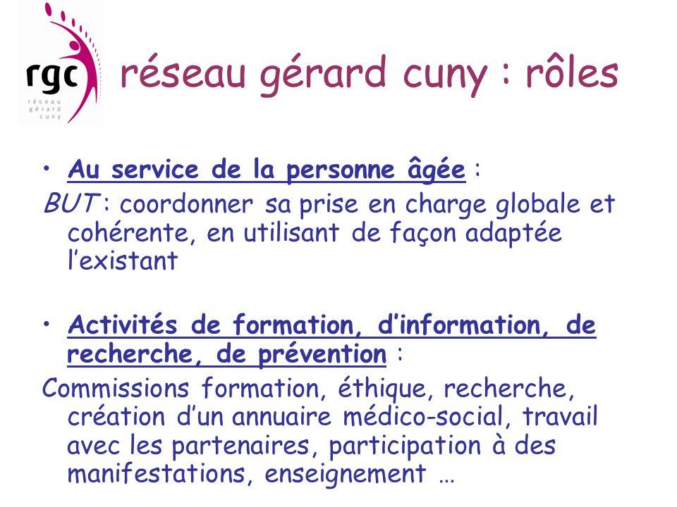réseau gérard cuny : rôles