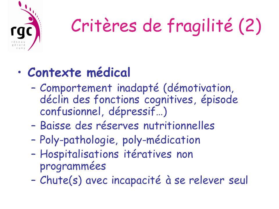 Critères de fragilité (2)